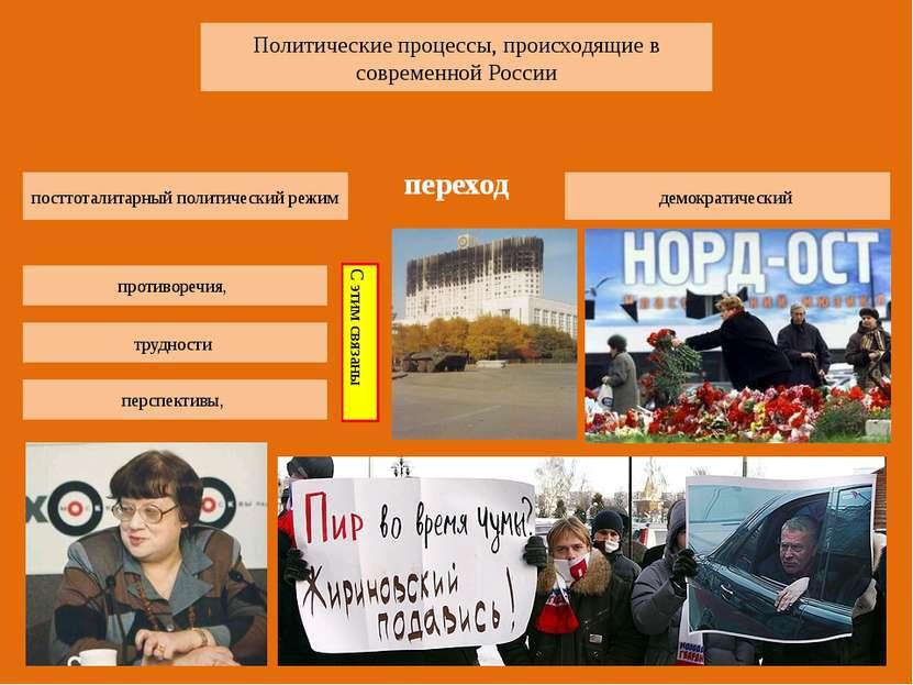 Политические процессы, происходящие в современной России посттоталитарный пол...