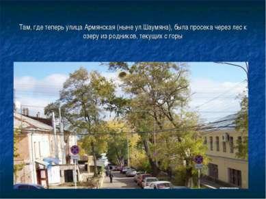 Там, где теперь улица Армянская (ныне ул.Шаумяна), была просека через лес к о...