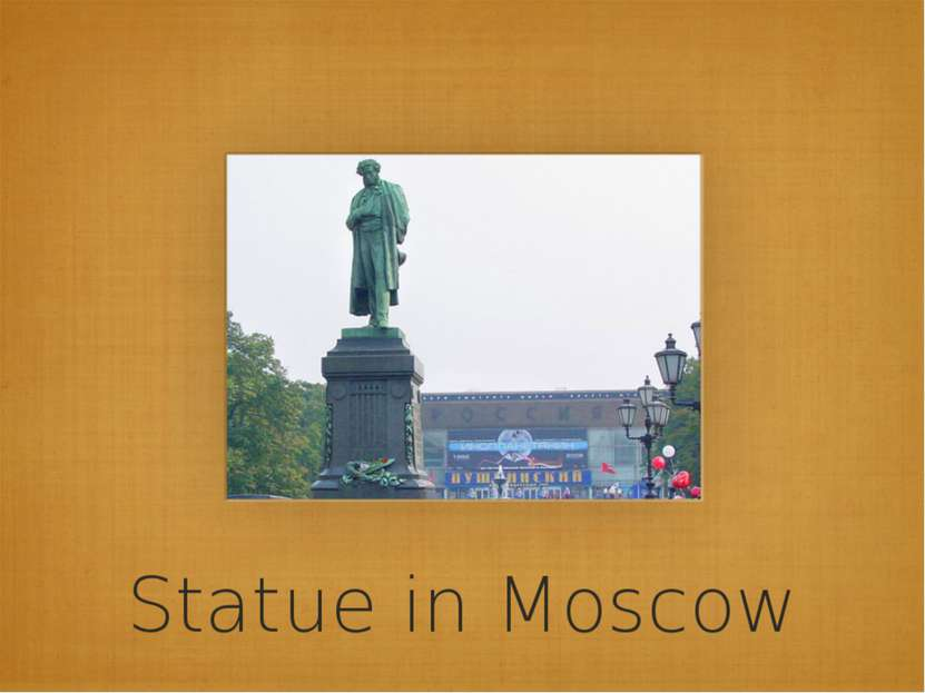 Statue in Moscow