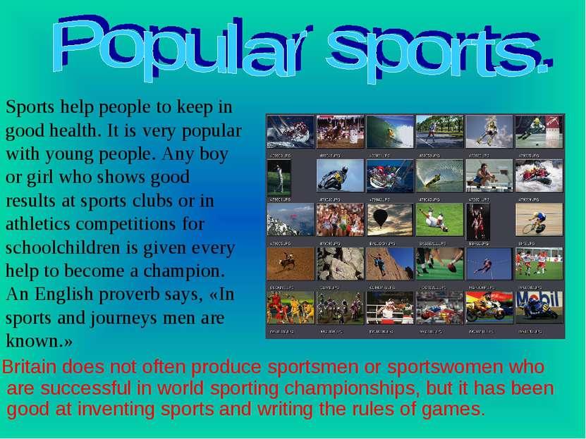 Britain does not often produce sportsmen or sportswomen who are successful in...