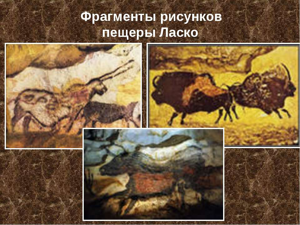 Фрагменты рисунков пещеры Ласко