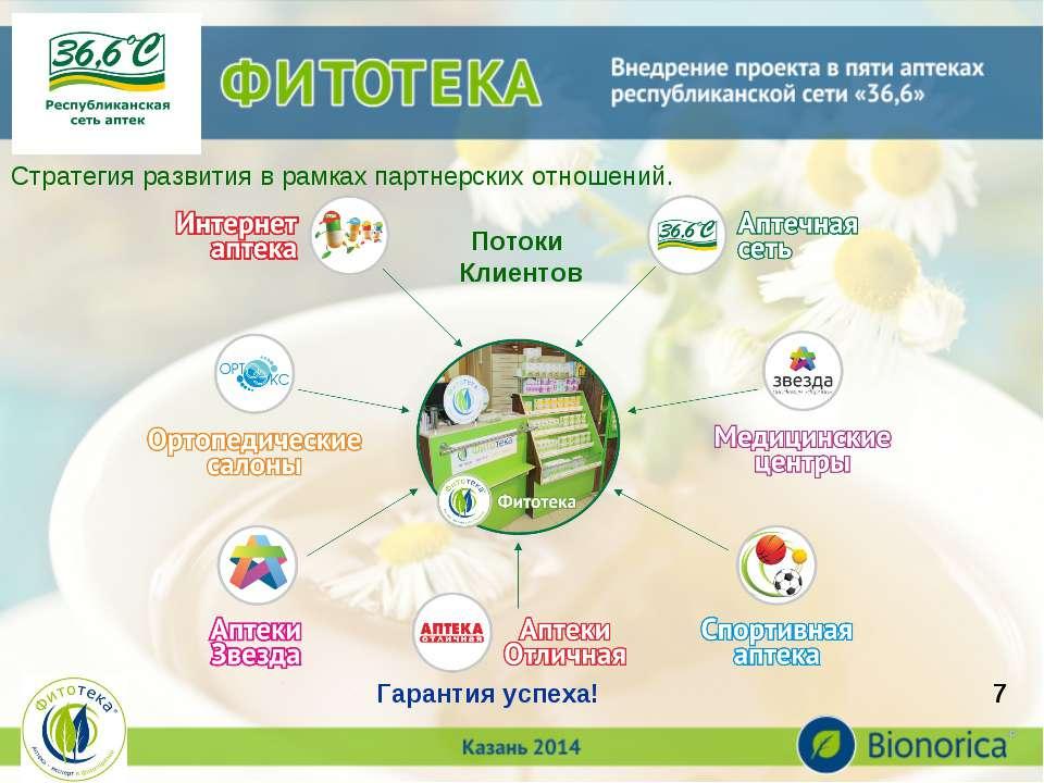 * Стратегия развития в рамках партнерских отношений. Потоки Клиентов Гарантия...