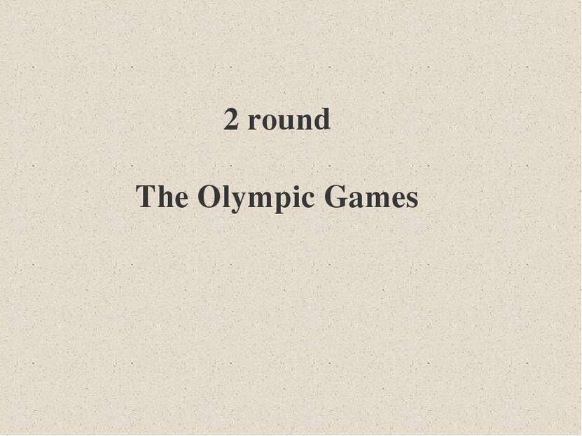 2 round The Olympic Games
