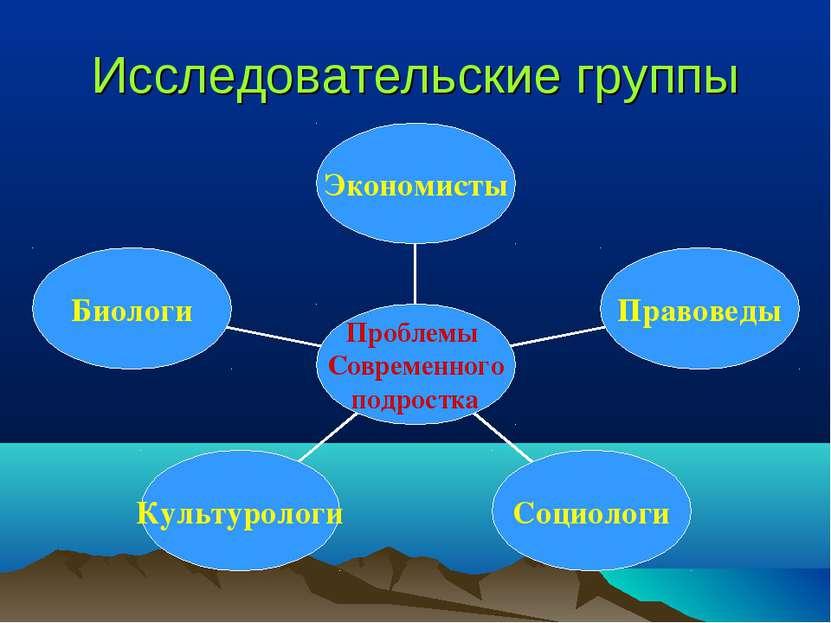 Исследовательские группы