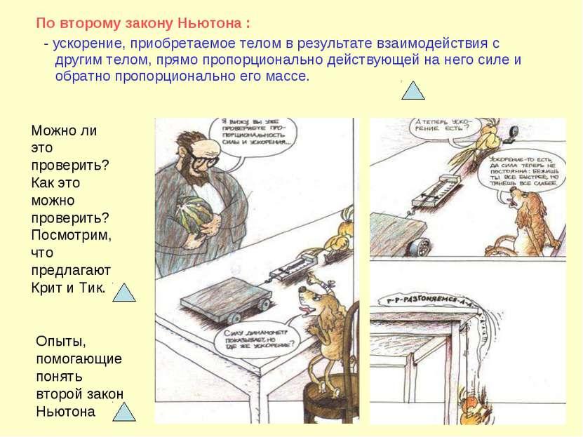 По второму закону Ньютона : - ускорение, приобретаемое телом в результате вза...