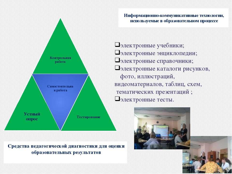 Средства педагогической диагностики для оценки образовательных результатов Ин...