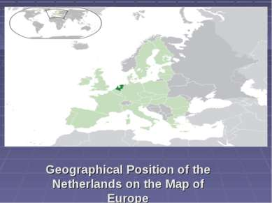 Geographical Position of the Netherlands on the Map of Europe