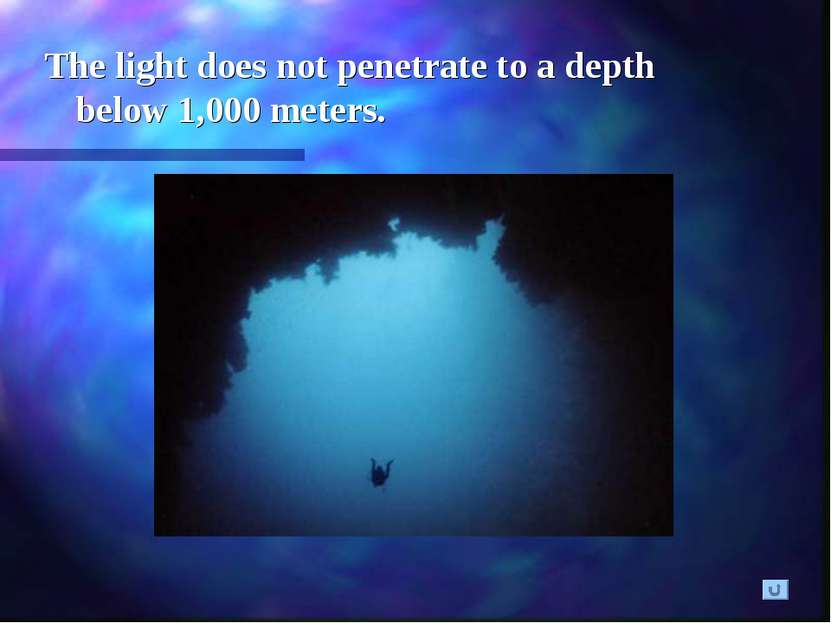 The light does not penetrate to a depth below 1,000 meters.