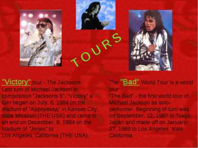 "T O U R S ""Victory"" tour - The Jacksons Last turn of Michael Jackson in compo..."