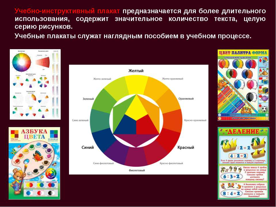 Учебно-инструктивный плакат предназначается для более длительного использован...