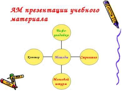 АМ презентации учебного материала
