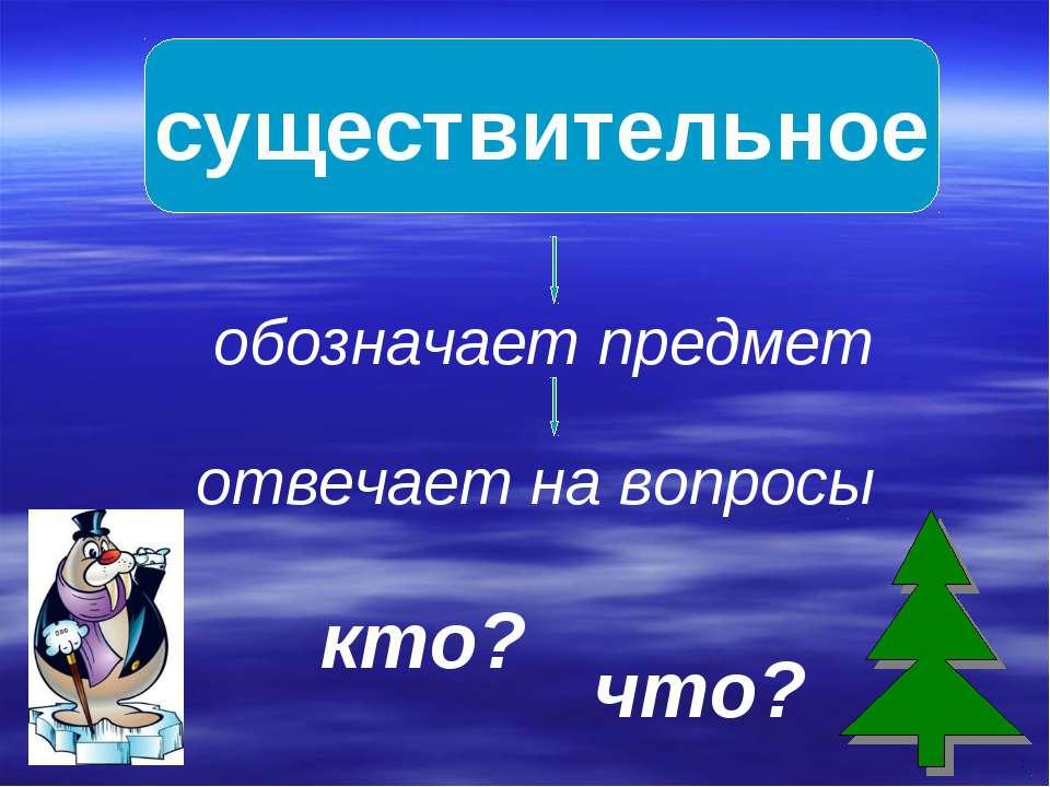 существительное обозначает предмет отвечает на вопросы кто? что?
