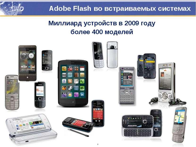 * Adobe Flash во встраиваемых системах Миллиард устройств в 2009 году более 4...