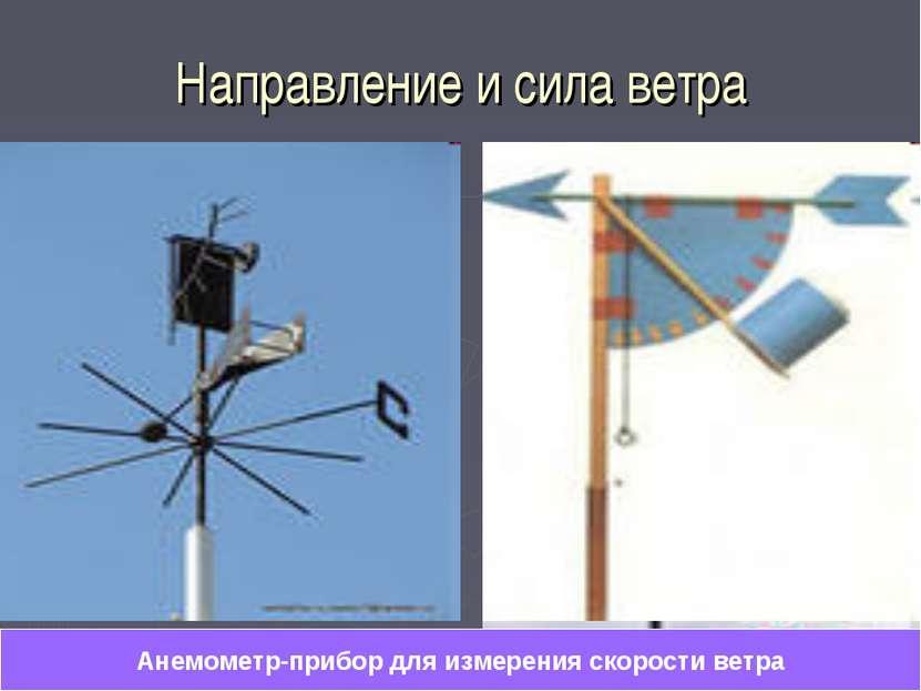 Направление и сила ветра Анемометр-прибор для измерения скорости ветра