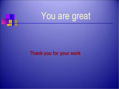 You are great Thank you for your work