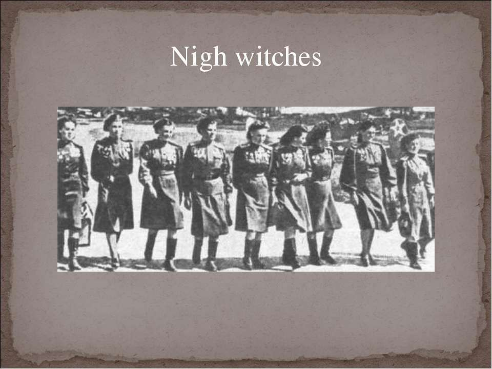 Nigh witches