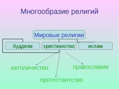 Многообразие религий католичество православие протестантство