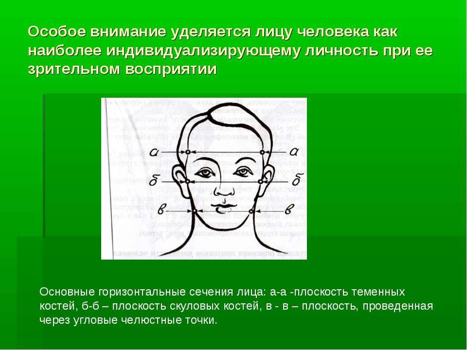 Особое внимание уделяется лицу человека как наиболее индивидуализирующему лич...