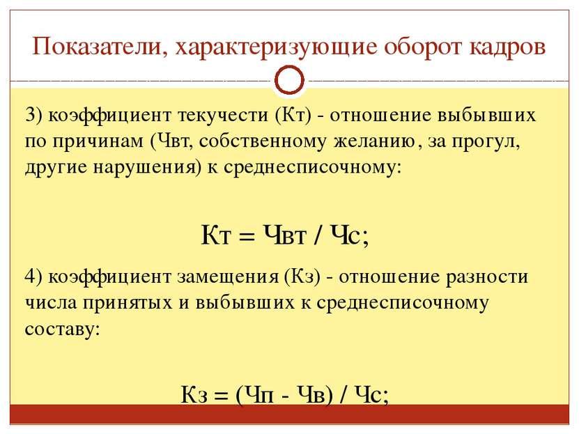 как определить текучесть кадров формула Олег Кузовков