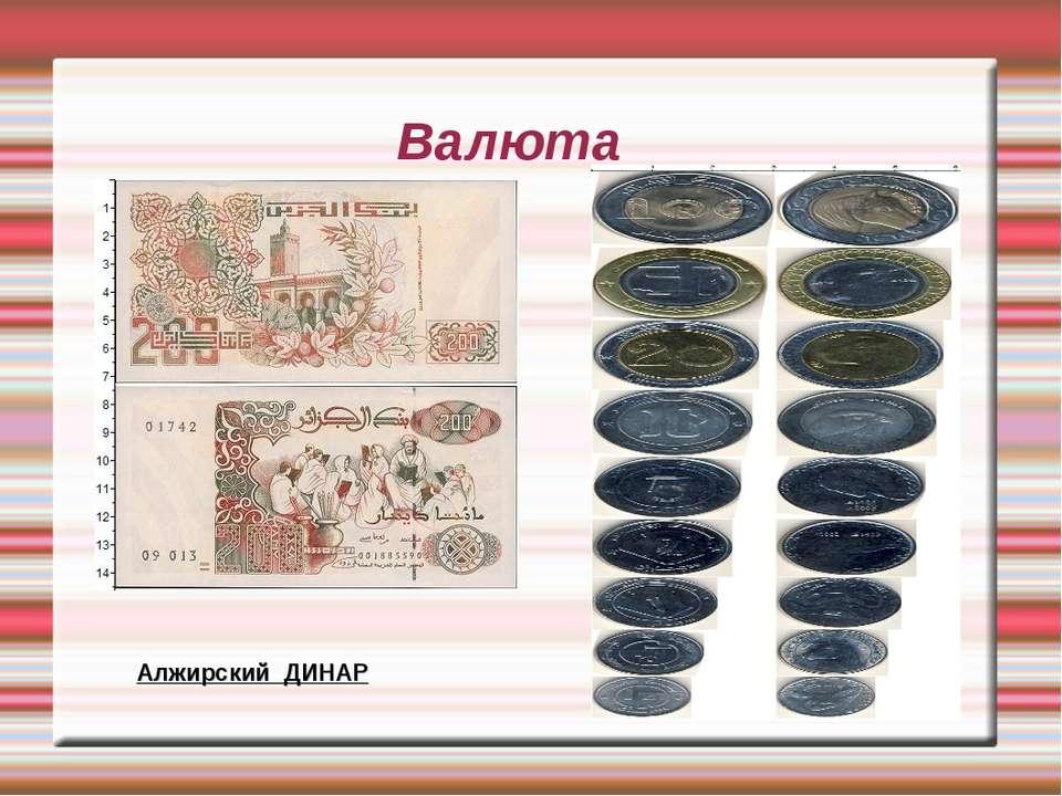 Валюта Алжирский ДИНАР Алжирский ДИНАР