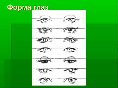 Форма глаз
