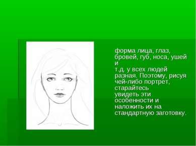 форма лица, глаз, бровей, губ, носа, ушей и т.д. у всех людей разная. Поэтому...