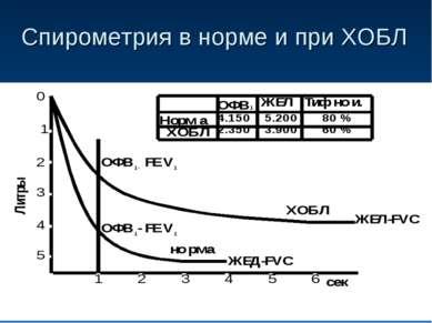Спирометрия в норме и при ХОБЛ
