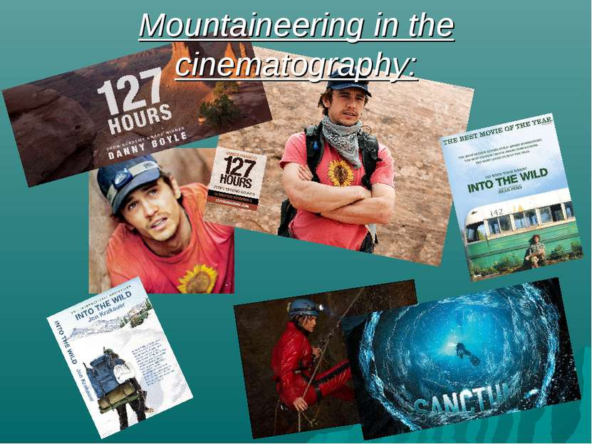 Mountaineering in the cinematography: