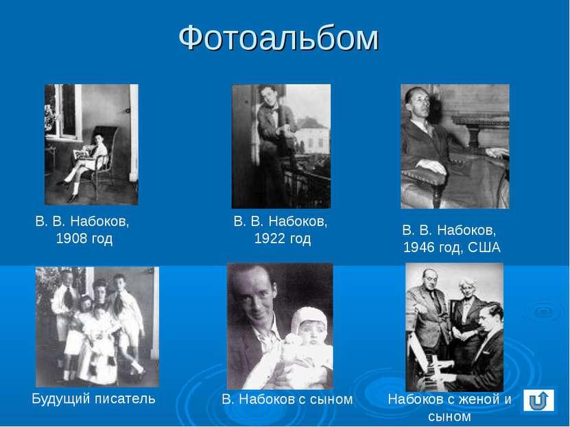 Фотоальбом В. В. Набоков, 1908 год В. Набоков с сыном В. В. Набоков, 1922 год...