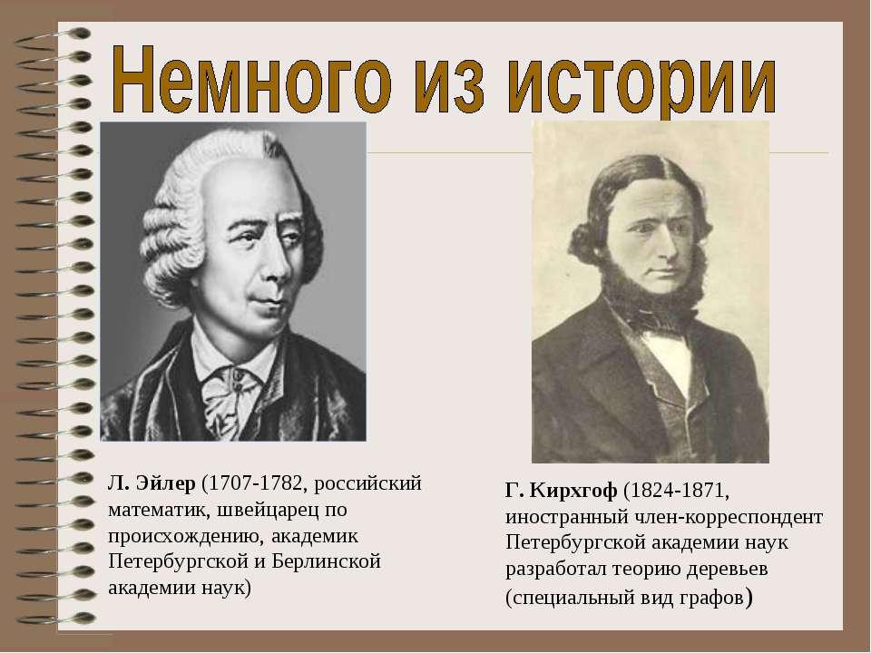 Л. Эйлер (1707-1782, российский математик, швейцарец по происхождению, академ...