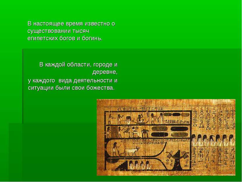 В настоящее время известно о существовании тысяч египетских богов и богинь. В...