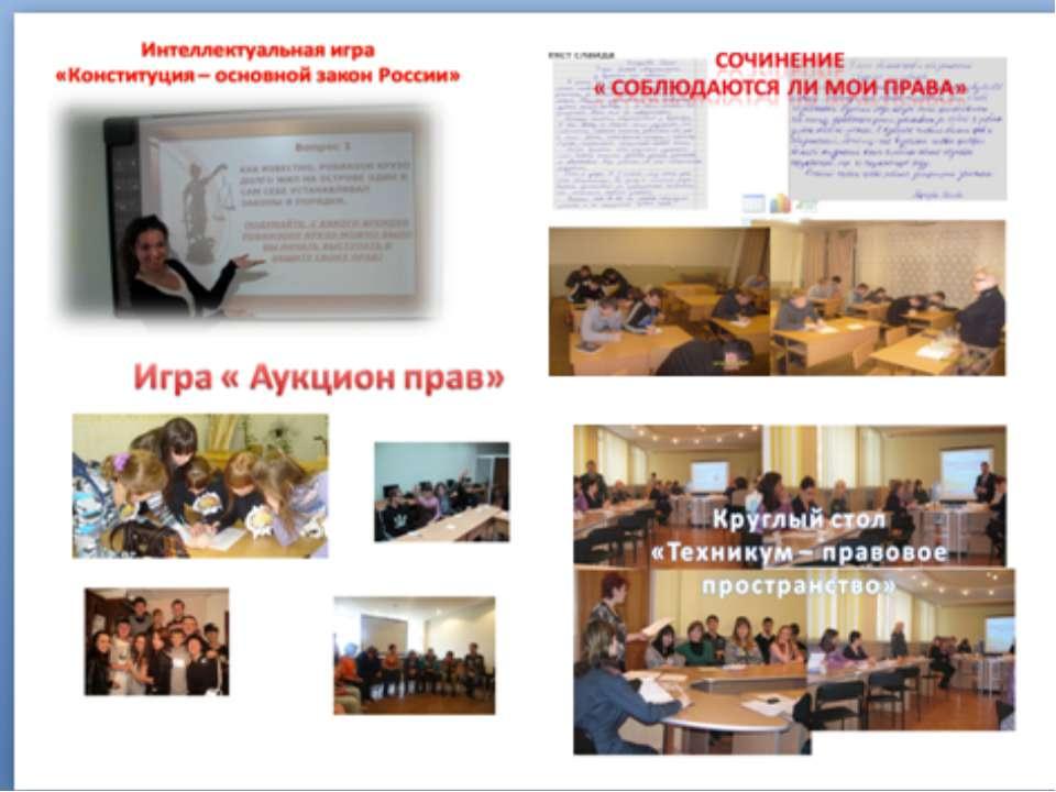 Выявленные проблемы Студенты мало информированы о Конституции как основном за...