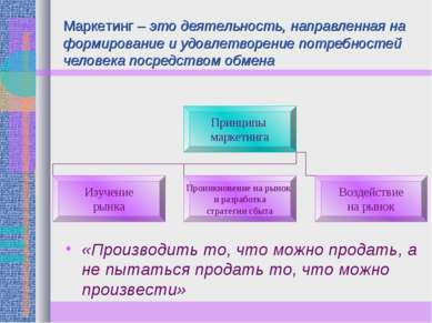Маркетинг – это деятельность, направленная на формирование и удовлетворение п...