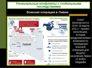 Военная операция в Ливии Совет Безопасности ООН 19 марта 2011 г. принял резол...
