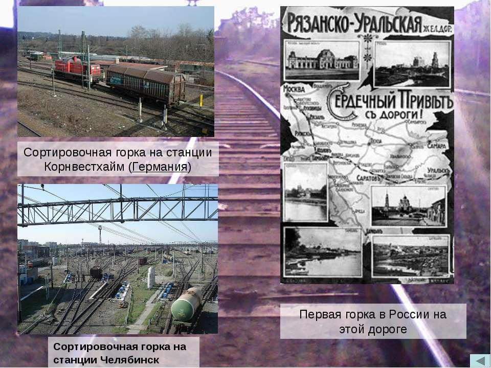 Сортировочная горка на станции Корнвестхайм (Германия) Первая горка в России ...