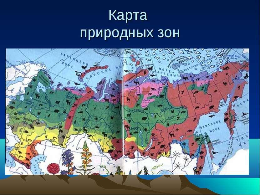 Карта природных зон