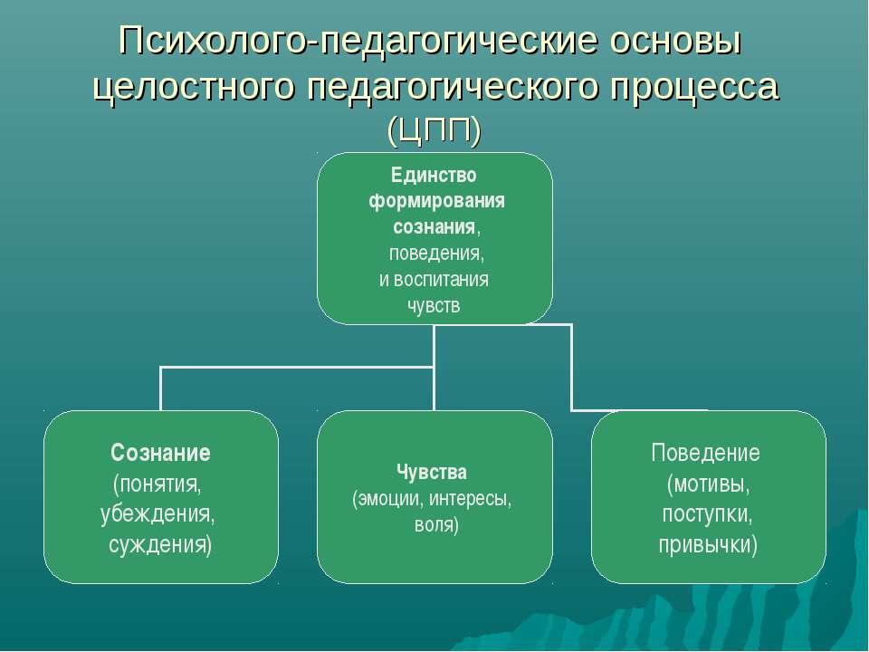 Психолого-педагогические основы целостного педагогического процесса (ЦПП)