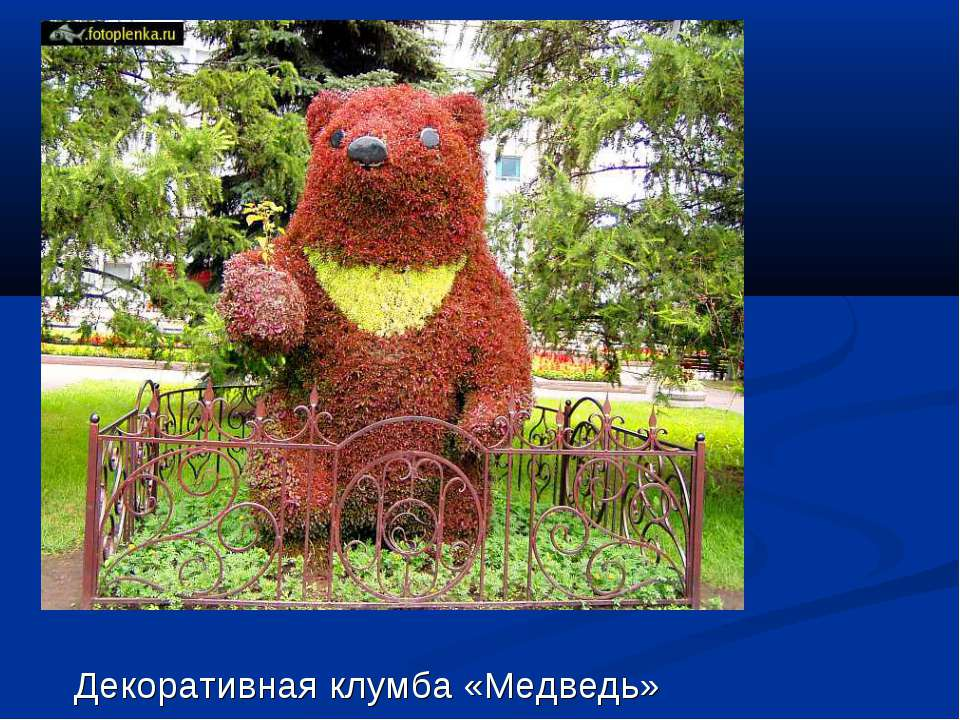 Декоративная клумба «Медведь»