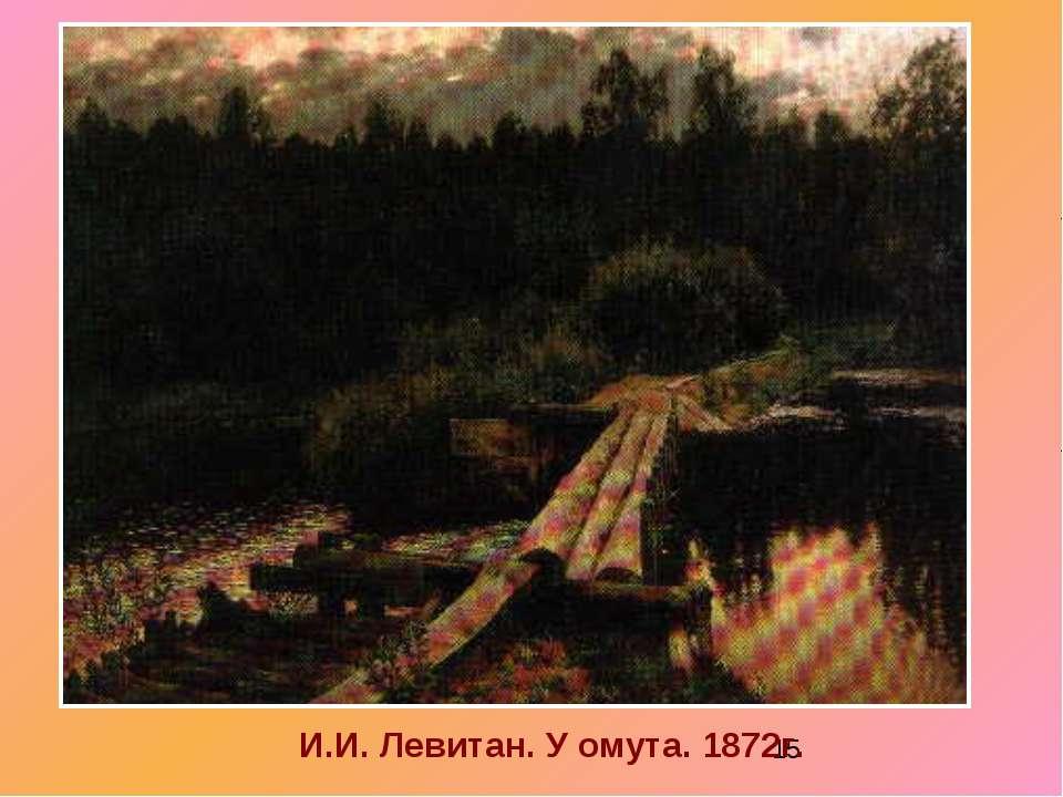 И.И. Левитан. У омута. 1872г.