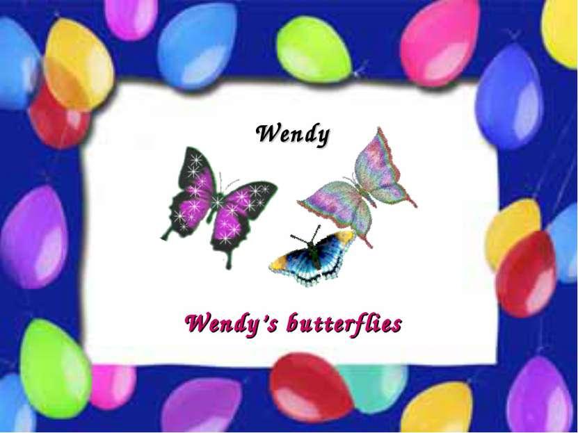 Possessive Case Wendy Wendy's butterflies