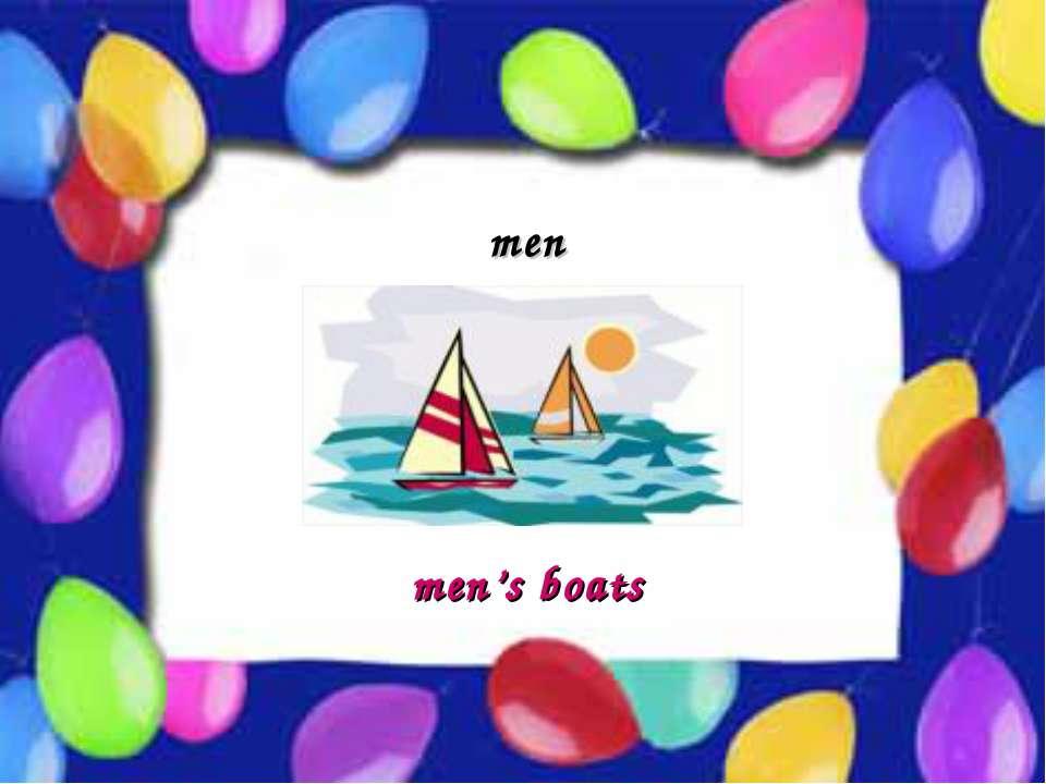 Possessive Case men men's boats