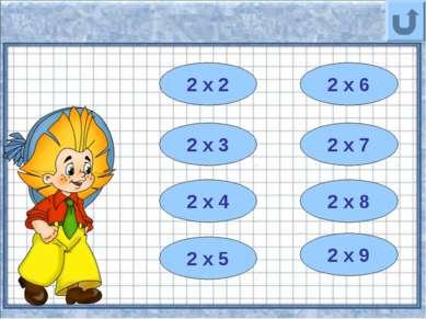 8 2 х 4 4 2 х 2 10 2 х 5 12 2 х 6 6 14 2 х 7 2 х 3 16 2 х 8 18 2 х 9