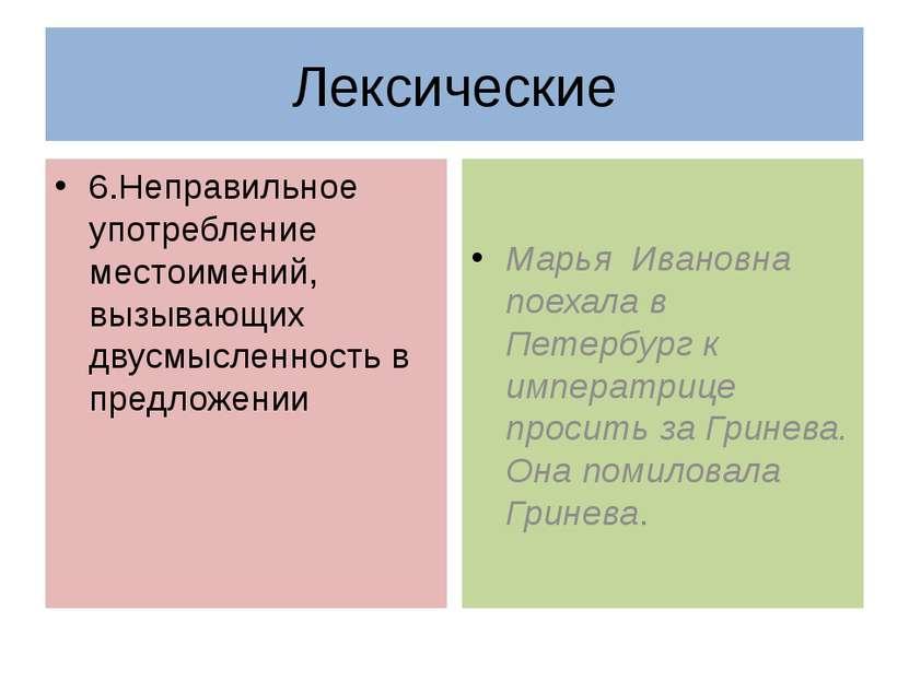 6.Неправильное употребление местоимений, вызывающих двусмысленность в предлож...