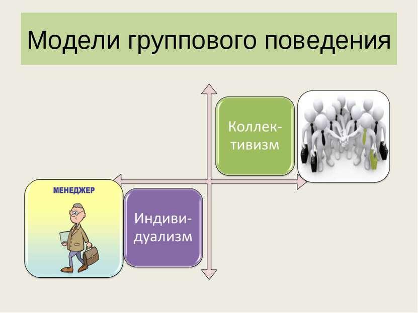 Модели группового поведения