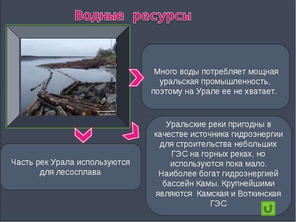 Много воды потребляет мощная уральская промышленность, поэтому на Урале ее не...