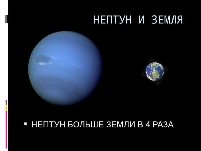НЕПТУН И ЗЕМЛЯ НЕПТУН БОЛЬШЕ ЗЕМЛИ В 4 РАЗА