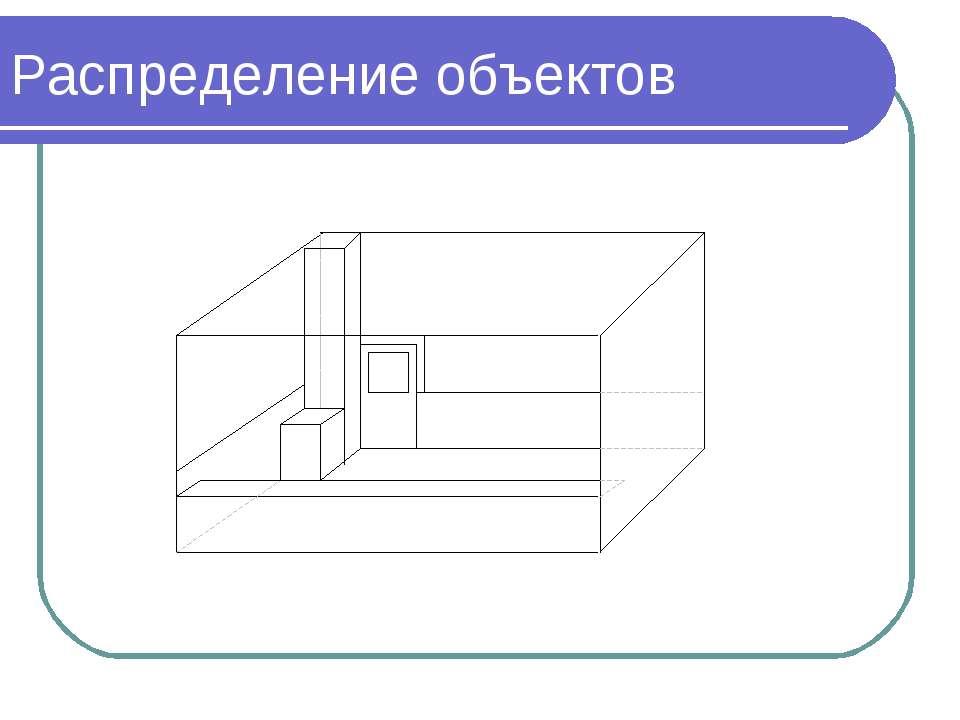 Распределение объектов