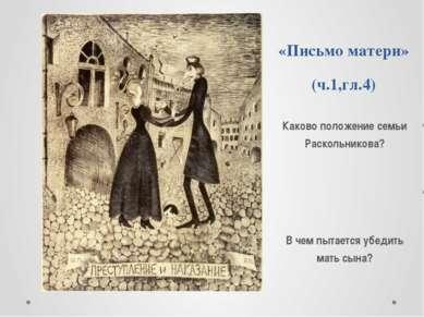 «Письмо матери» (ч.1,гл.4) Каково положение семьи Раскольникова? В чем пытает...