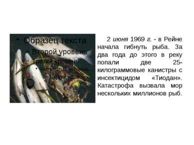 2 июня 1969 г. - в Рейне начала гибнуть рыба. За два года до этого в реку поп...
