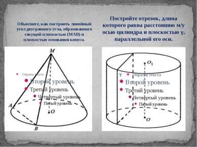 Объясните, как построить линейный угол двугранного угла, образованного секуще...
